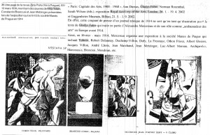 Reproductie uit Paris: Capitaledes Arts, 1900 – 1968, Ann Dumas, Gladys Fabre, Norman Rosethal, Sarah Wilson, London, 2002.
